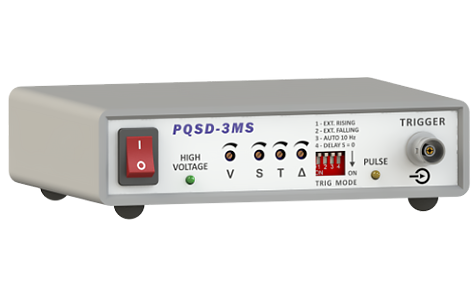 PQSD-3MS: OEM FTIR-shutter's piezoelements driver. Provides 3 synchronized HV pulses of ms duration. Pulses parameters are adjustable. Buy online at https://teo.technology!